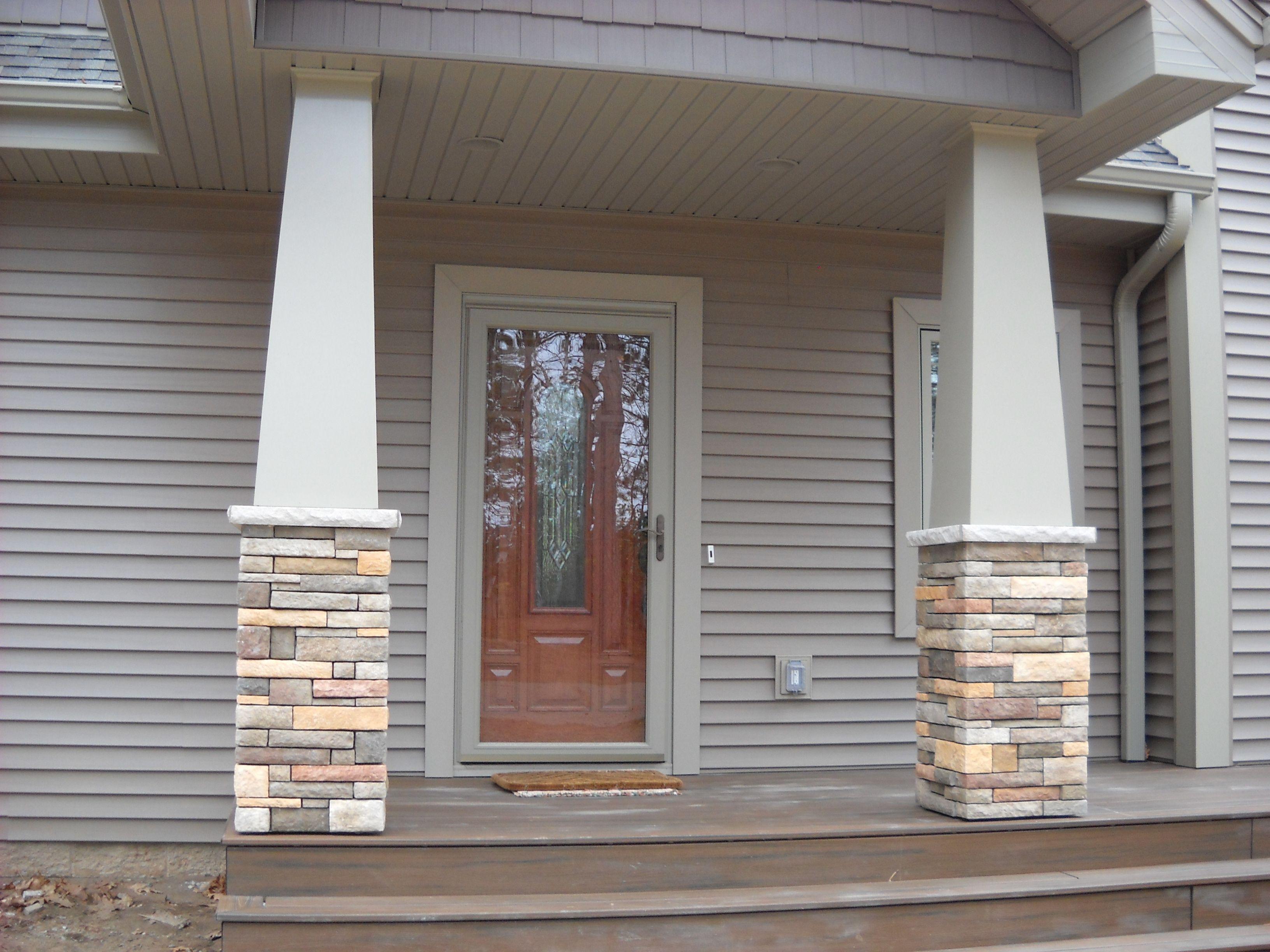 Craftsman style porch columns - Craftsman Style Stone Columns