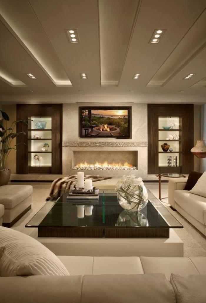 Célèbre Le plafond lumineux - jolis designs de faux plafonds et d  ZN32