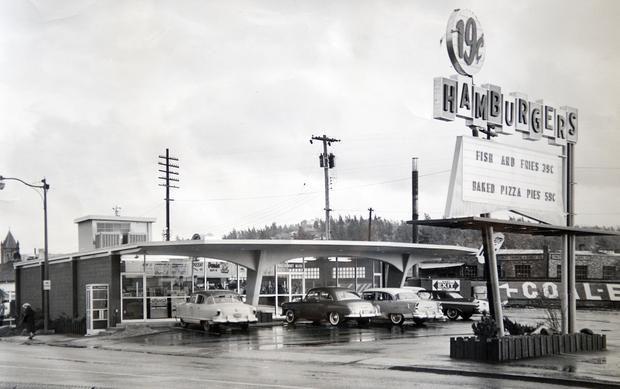 Panda Drive In Spokane 1959 Then And Now Photos Ferry Building San Francisco Spokane