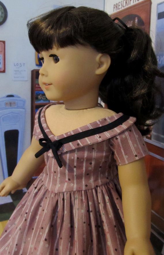 1950's Striped Party Frock Made to fit 18 by KeepersDollyDuds, $64.49