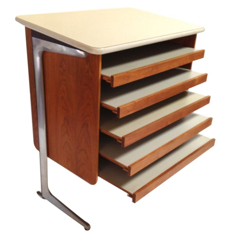 George Nelson Action Office Architects Drafting Table For Herman Miller |  1stdibs.com