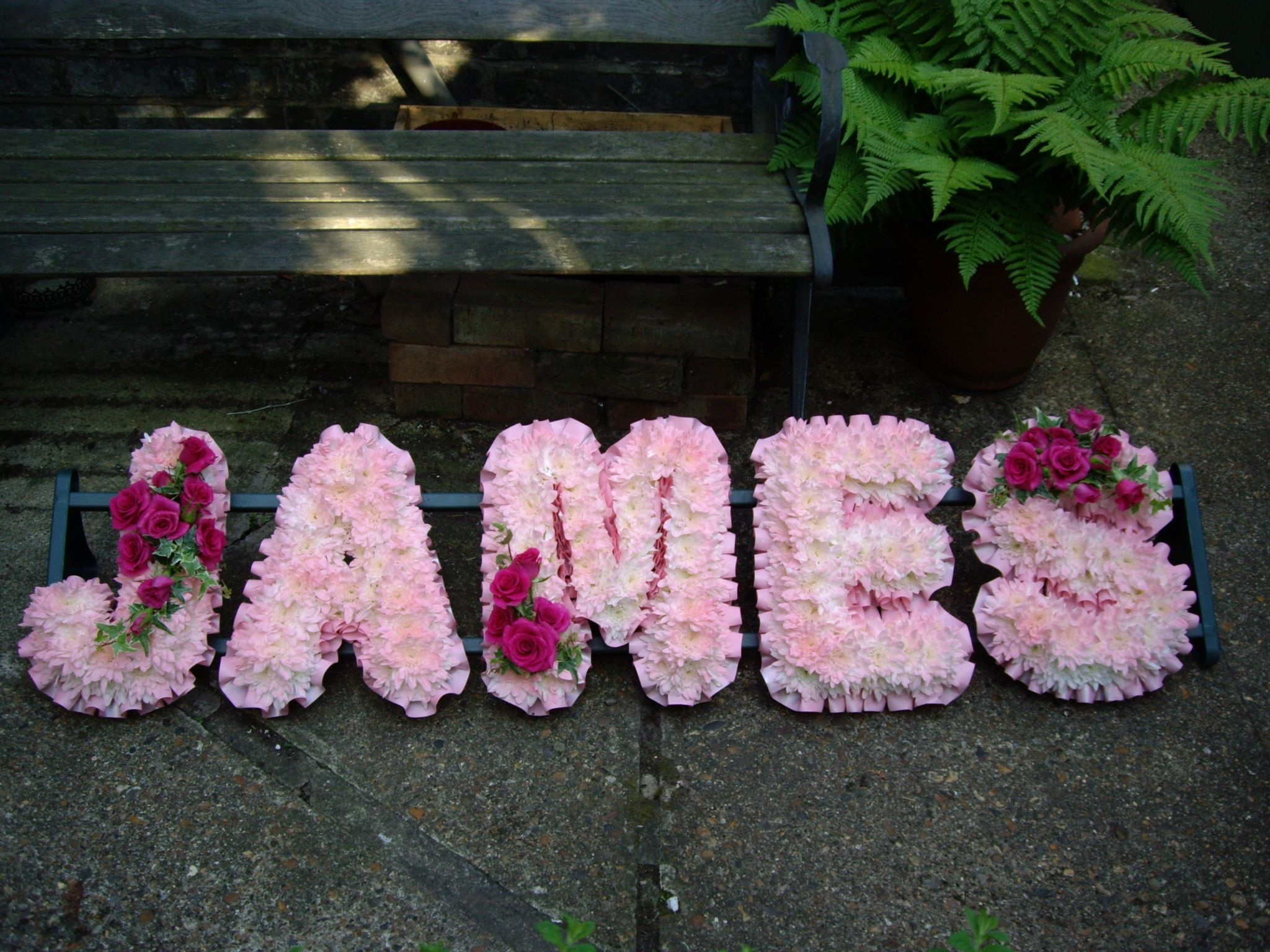 Lettering sympathy flowers pinterest west london west london flowers specialise in stunning wedding flowers bespoke funeral flowers and flowers for any occasion with over 20 years experience izmirmasajfo