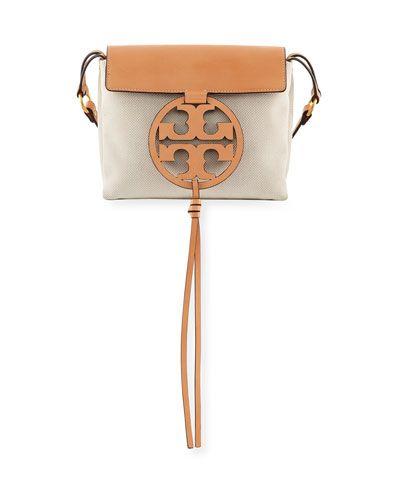 cfe7384301b48a V3SE7 Tory Burch Miller Canvas Crossbody Bag