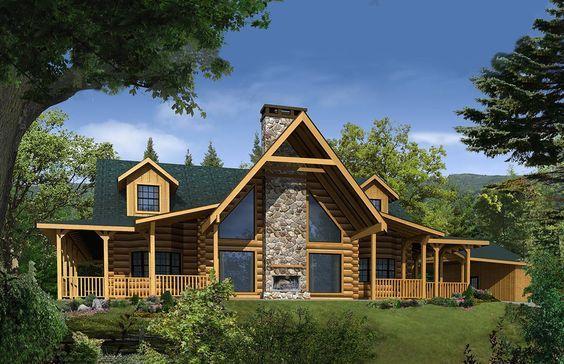 Satterwhite Log Homes Misty River Floor Plan Barn Homes Log