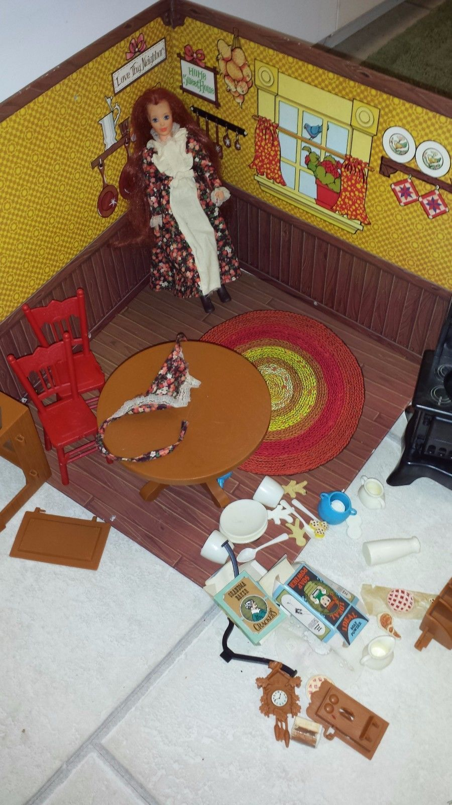 Vintage Jody Doll And Country Kitchen Original Box Accessories