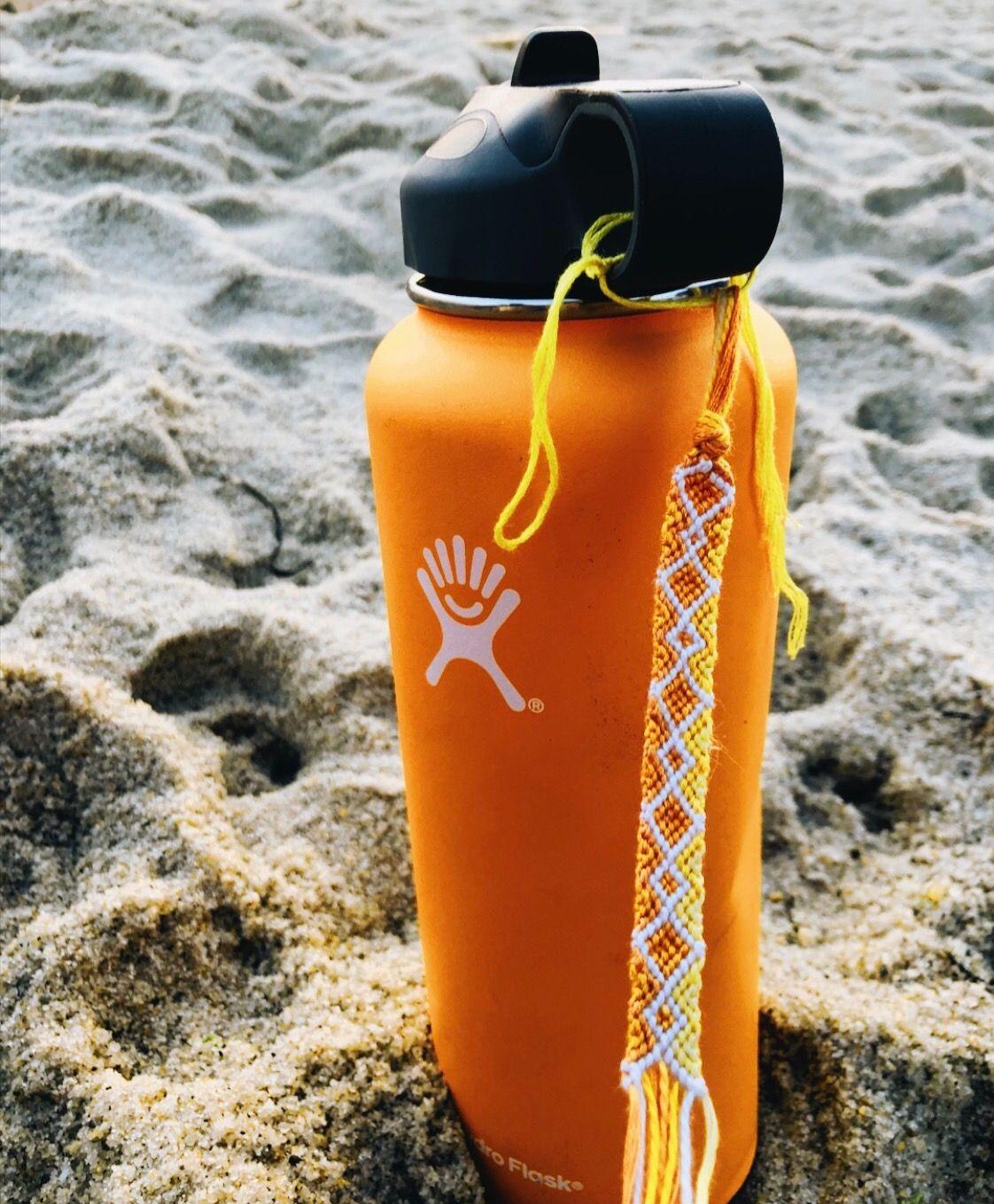 Yellow friendship bracelet hydro flask | Cape Cod in 2019