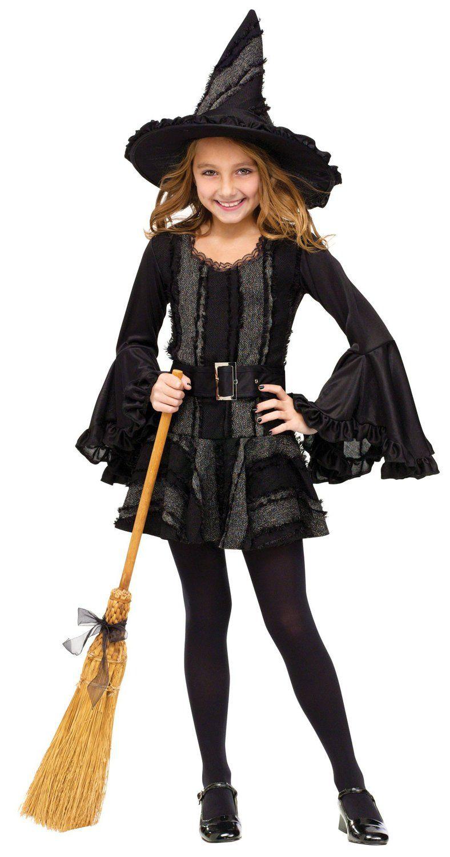 WITCH  BOYS GIRLS T SHIRT HALLOWEEN TRICK TREAT COSTUME PARTY FANCY DRESS