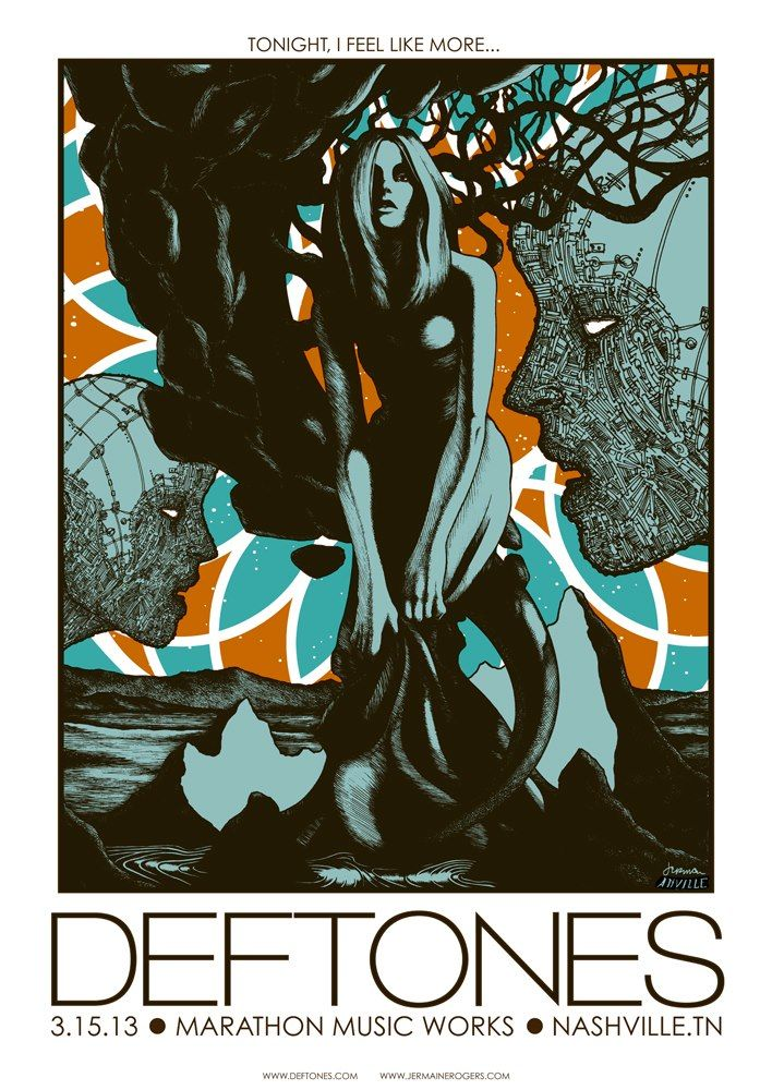 INSIDE THE ROCK POSTER FRAME BLOG: Tonight\'s Deftones poster from ...