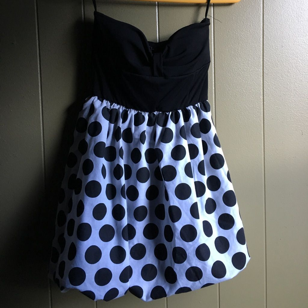 Black and polka dot strapless dress strapless dress and products