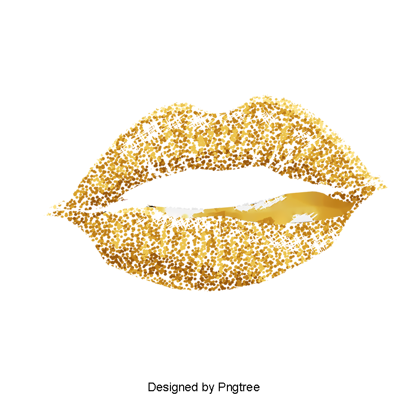 Gold Lips Vector Image Lips Clipart Golden Lips Png Transparent Clipart Image And Psd File For Free Download Gold Lips Lip Logo Vector Images
