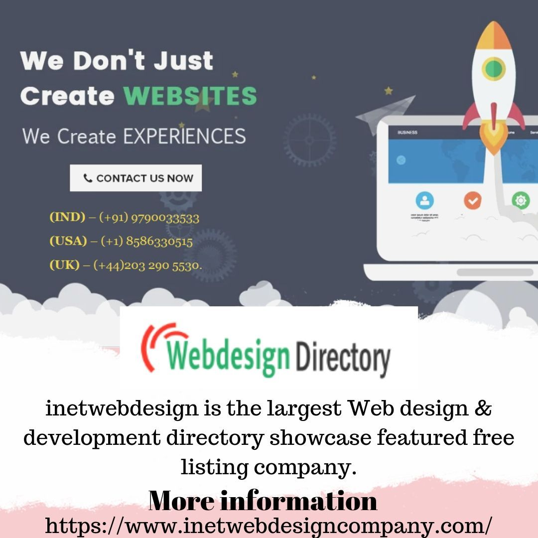 Inetwebdesign Is The Largest Web Design Development Directory Showcase Featured Free Listing Company In Web Development Design Web Design Web Design Company