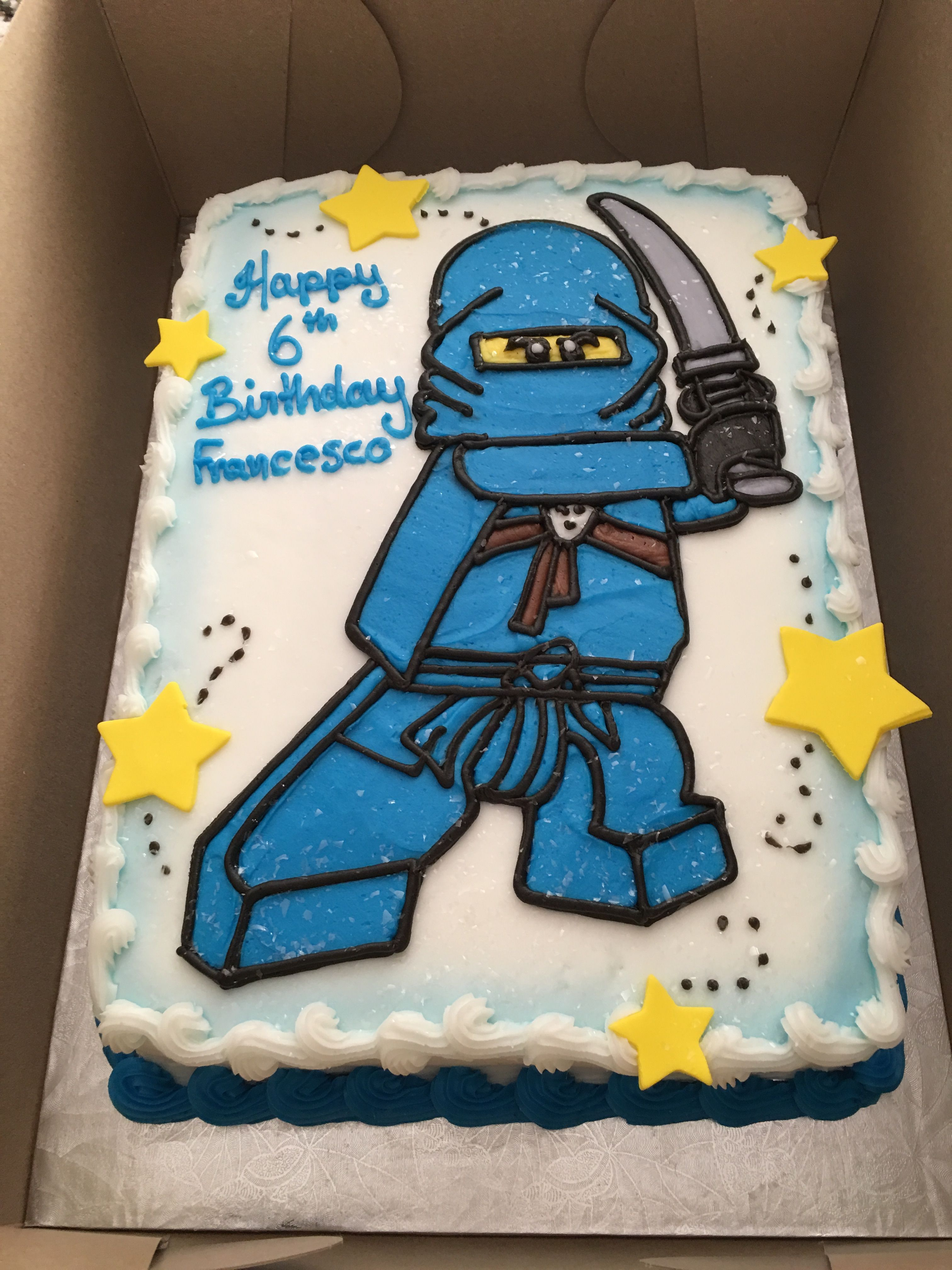 Jay From Lego Ninjago Birthday Cake Lego Party Pinterest