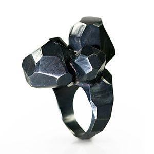 Sculpture Ring - Contemporary Jewelry- Sterling Silver by David Choi