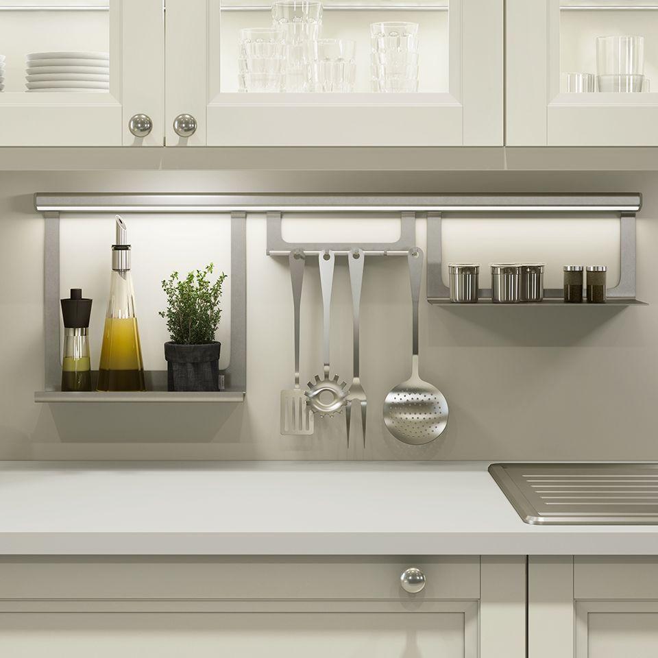 Sensio Midway V1 Silver Hanging Rail Kitchen Design Kitchen
