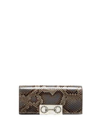 1da66b61f17636 Broadway Python Crystal Horsebit Clutch Bag by Gucci at Neiman Marcus.