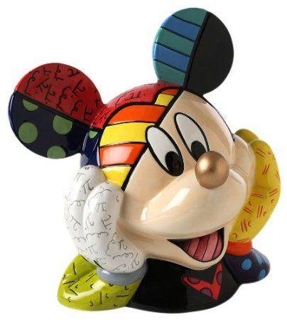 Disney Cookie Jars Amazon Com >> Amazon Com Enesco Disney By Britto Gold Nose Mickey Mouse Deluxe