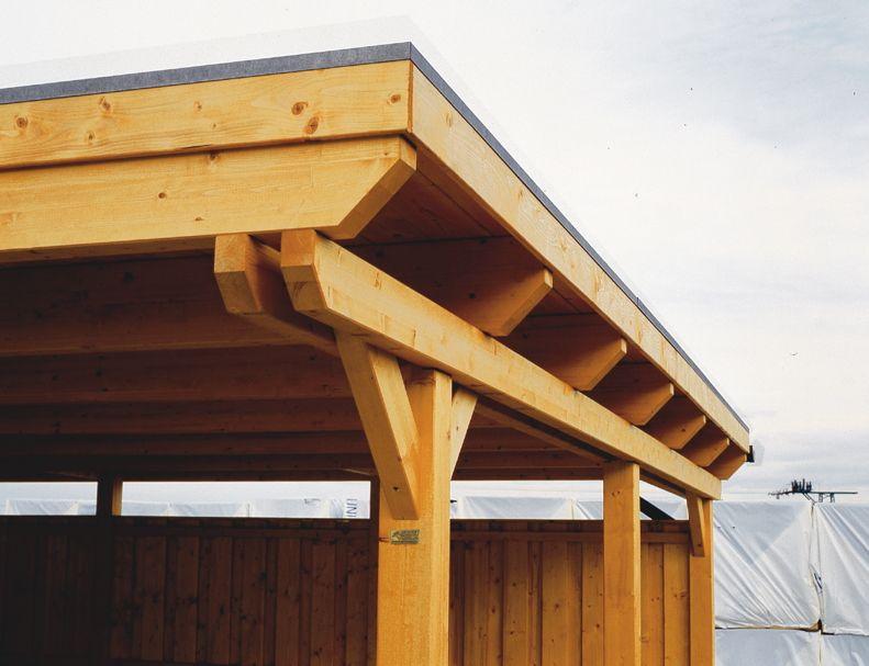 Holz Carport Bausatz SKANHOLZ Emsland Flachdach