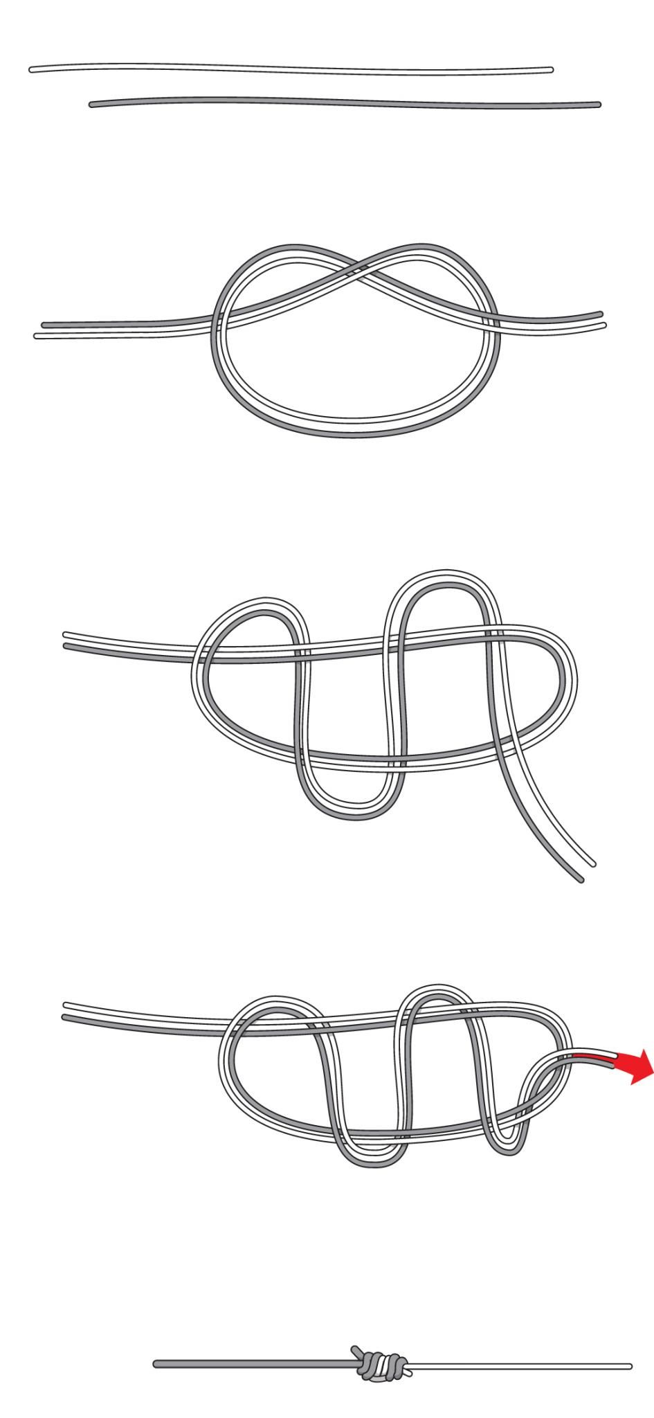 933f3707ff33 Fishing Knots  How to Tie The Four Strongest --By Field and Stream  --Photo s by John Merwin. The J Knot  Similar Sized Lined Connections ...