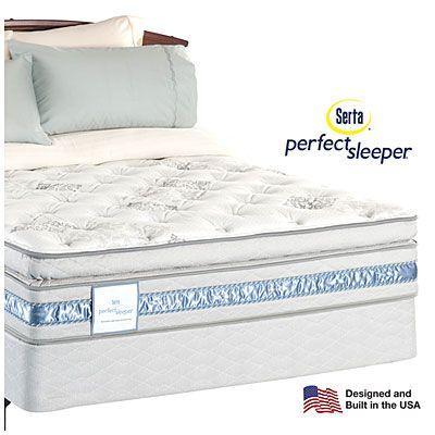 Serta® Perfect Sleeper® Hampton Bay Super Pillowtop Queen Mattress ...