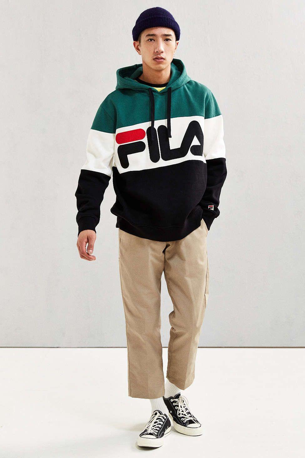 d0e3aee08aed FILA Colorblocked Hoodie Sweatshirt | New Arrivals | Fashion, Mens ...