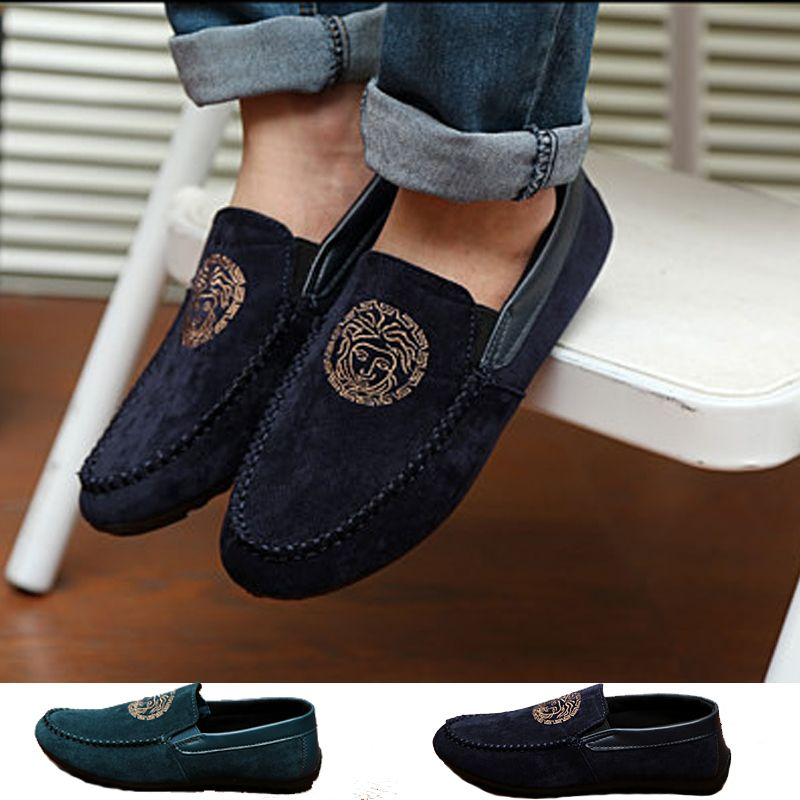 Spring Casual Retro Classic Ankle Suede Indoor/Outdoor Mens Boat Shoes