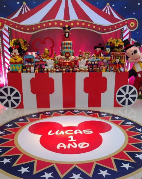 101 fiestas el circo de mickey para tu primer a o - Decoracion primer cumpleanos ...