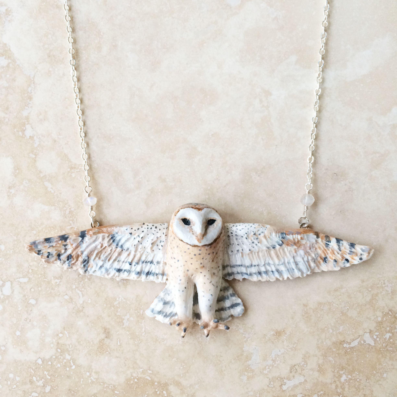 Barn Owl Totem Necklace By Meadow U0026 Fawn #advertiserloveday