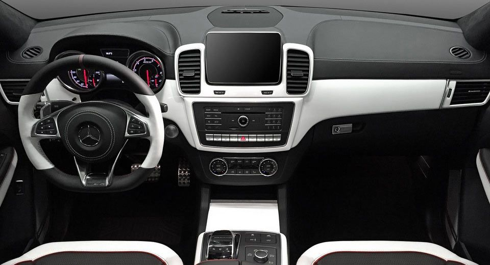 How About This Custom Black White Interior For Mercedes Gle Coupe Carscoops Luxury Car Interior Car Interior Custom Car Interior