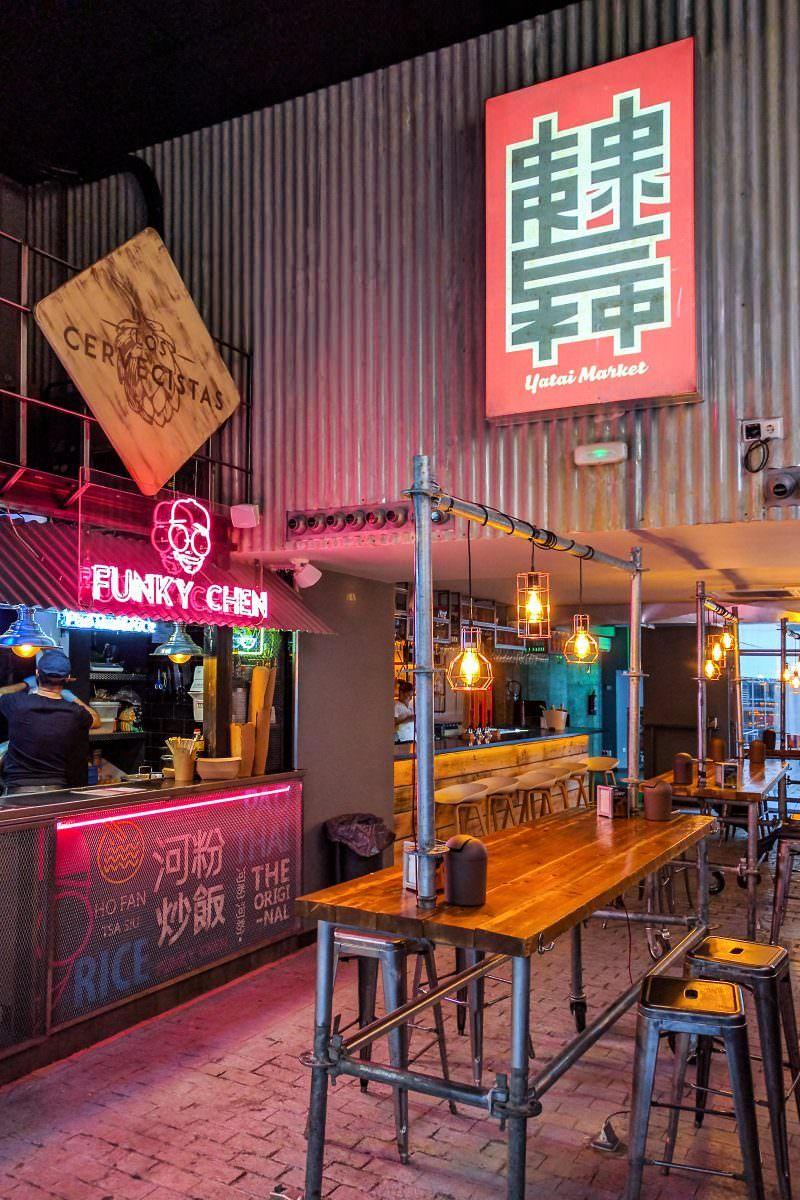 Yatai Market El Sudeste Asiático Está Al Lado De La Puerta Del Sol Bares Diseño Interiores Del Restaurante Diseño De Restaurante Bar