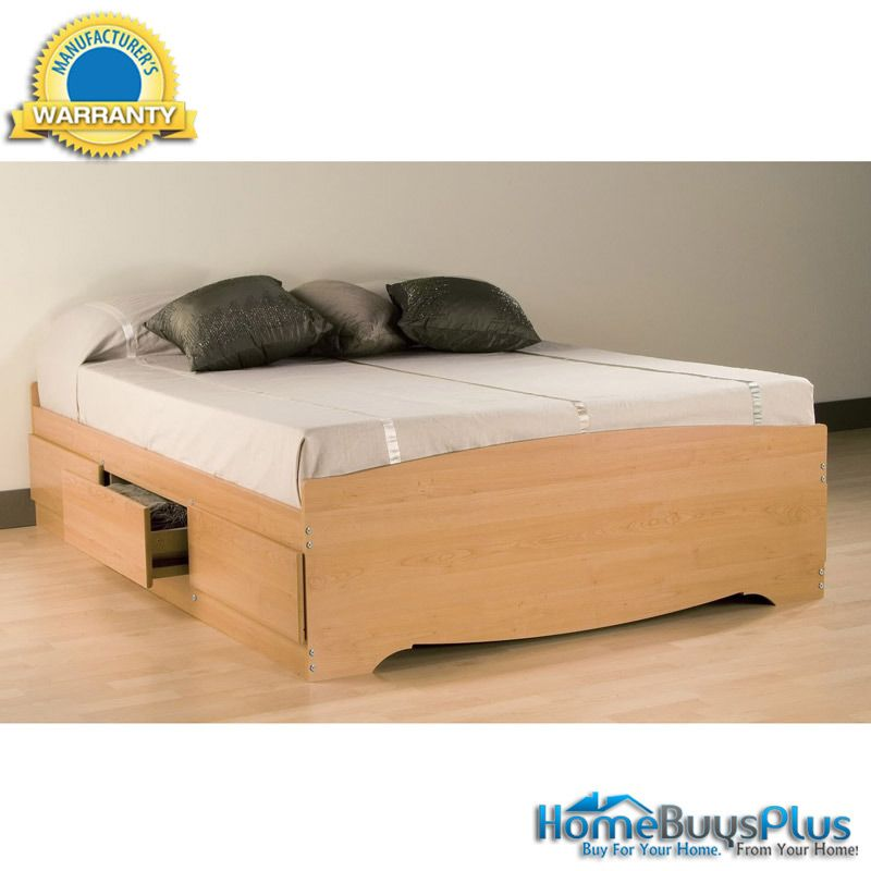 Maple Queen Mate\'s Platform Storage Bed with 6 Drawers. $420.53 ...