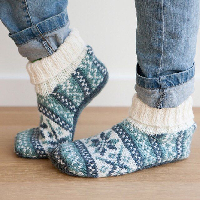 Frost Slippers In 2020 Knitted Slippers Knitting Accessories Knitting Socks