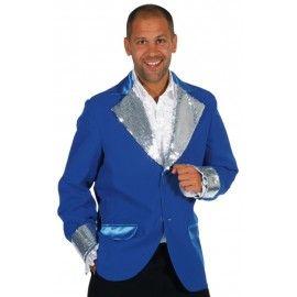18d0d21205d51 Déguisement veste bleu cobalt paillettes argent homme luxe Costume Cabaret,  Bleu Cobalt, Luxe,