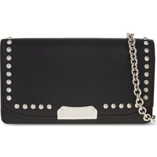 8a2fb6b23322 BURBERRY Madison leather chain clutch ( 980) ❤ liked on Polyvore featuring  bags