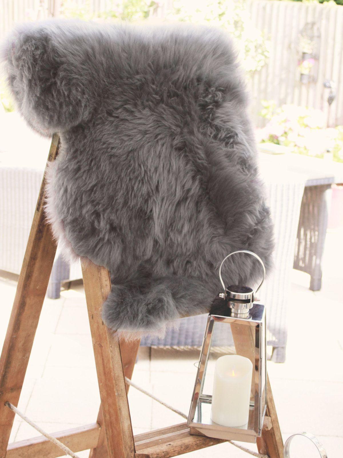 Slate Grey Single Sheepskin Rug Thumbnail (With images