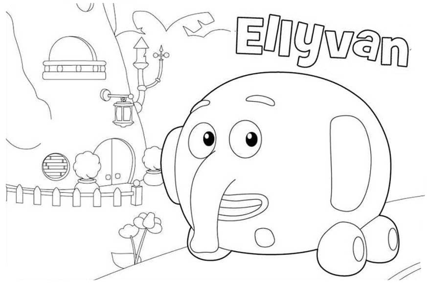 Ellyvan From Jungle Junction Coloring Page Netart In 2020 Jungle Junction Coloring Pages Jungle