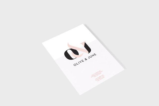 Good design makes me happy: Olive & June Brand Identity