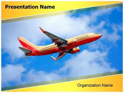 southwest boeing powerpoint template is one of the best powerpoint templates by editabletemplatescom - Southwest Airlines Ppt Template Free Download