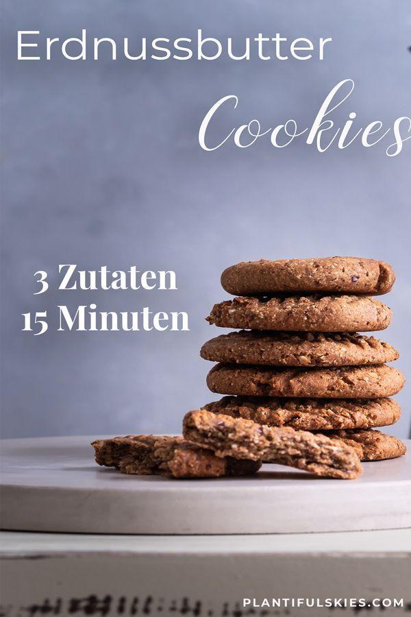 Schnelle gesunde Erdnussbutter-Dattel Kekse
