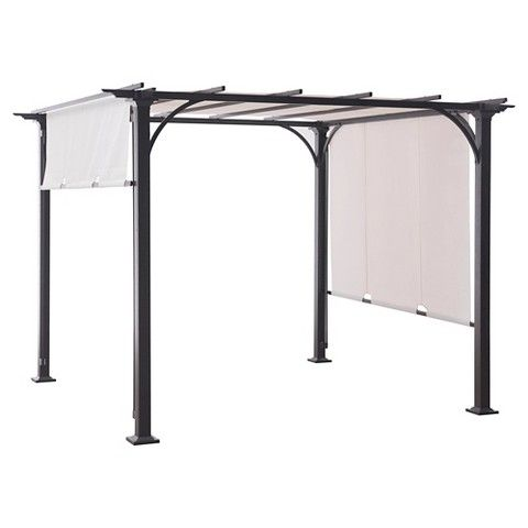 8 X 8 Adjustable Shade Pergola Threshold Steel Pergola Pergola Shade Gazebo Pergola