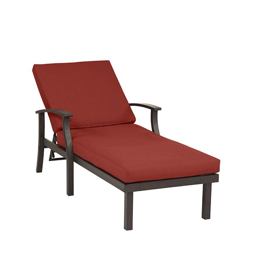 Brilliant Shop Allen Roth Gatewood Brown Aluminum Patio Chaise Machost Co Dining Chair Design Ideas Machostcouk