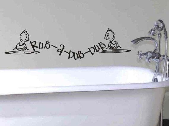 Stickers Rub A Dub Dub Wall Art Bathroom Vinyl Decals