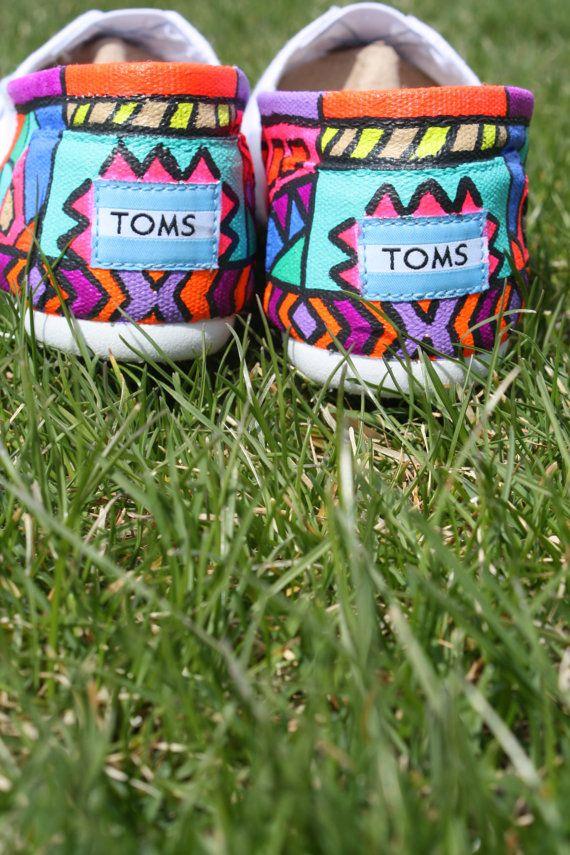 Custom Tribal Print Toms Partial by Chelmarca on Etsy, $130.00
