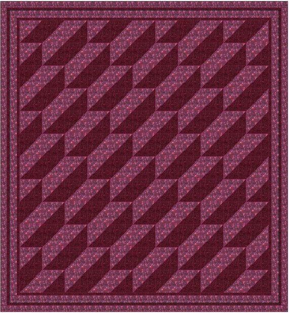 Quilt Pattern - Velvet Keys - Designed with Hoffman Bali Batiks - Single Block Design - Fast and Easy - Great Beginner Quilt -