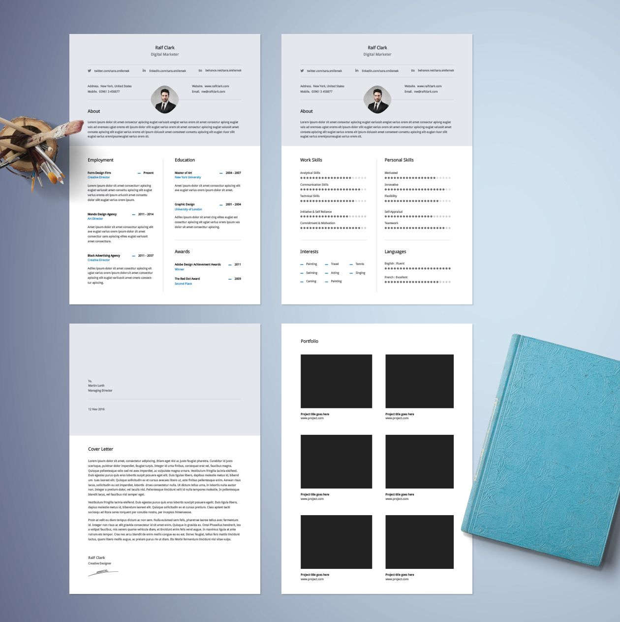 Classic Resume Template Design Inspo Freebies Pinterest