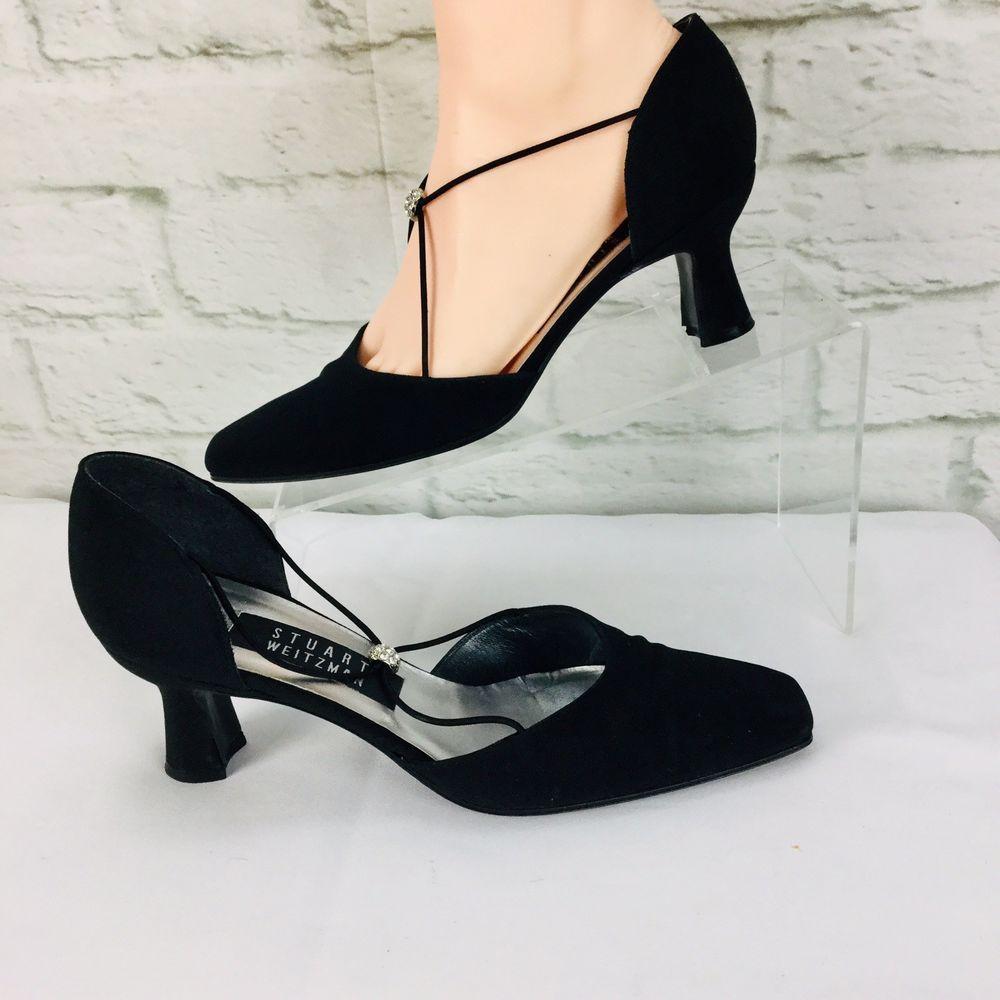 0889c6e7c4 Vintage Stuart Weitzman Pumps Womens 6 B Kitten Heel Black strappy Formal  #StuartWeitzman #PumpsClassics #Formal