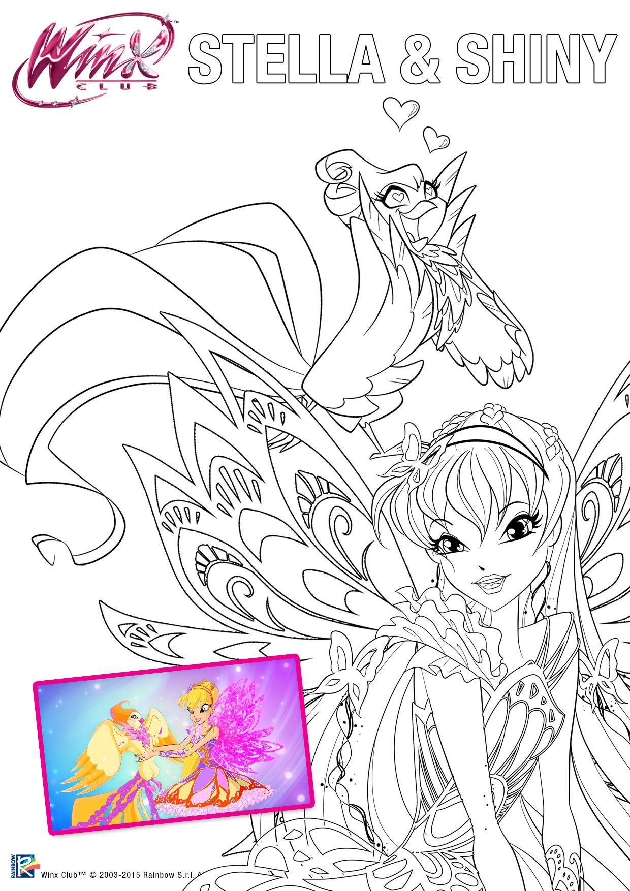 Butterflix Print Color Cartoon Coloring Pages Fairy Coloring Pages Disney Coloring Pages