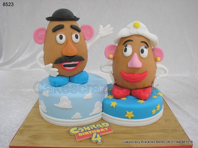 Mr And Mrs Potato Head Shaped Cakes