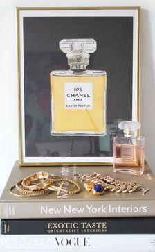 Chanel No. 5 Print, Black contemporary prints and posters