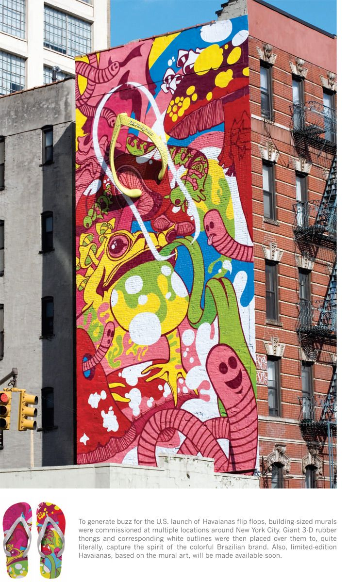 Havaianas Mural Street Art Graffiti Street Mural Ad Design Advertising Agency Public