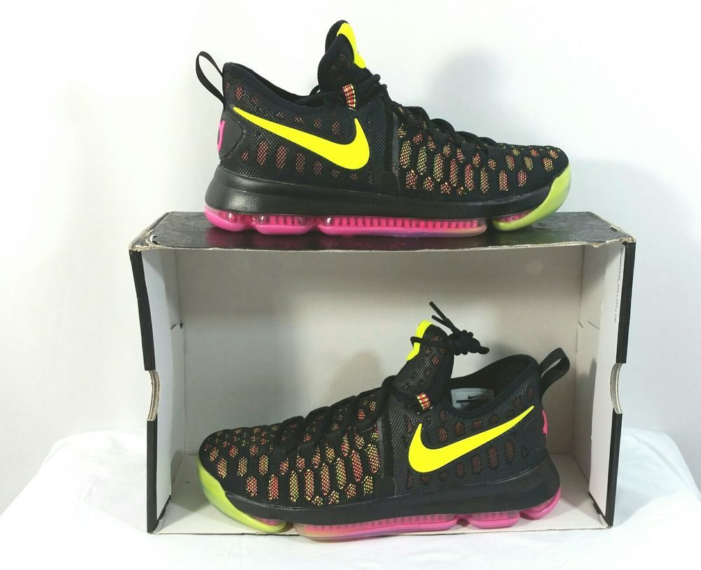 the best attitude e5948 fe617 Nike Zoom KD 9 Sneakers Men Size 10 Multi Color Style 843392 999 With Box  No Lid  Nike  BasketballShoes